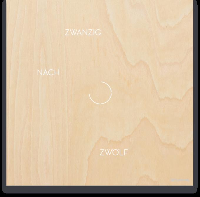 OCUVIA® · Wortuhr Anna · Ahorn Holzoptik · Wortuhren-Manufaktur Berlin