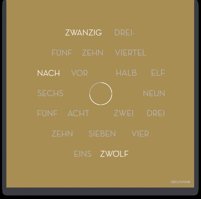 OCUVIA® · Wortuhr Anna · Gold matt · Wortuhren-Manufaktur Berlin