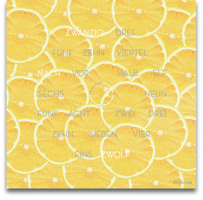 OCUVIA® · Wortuhr Anna · Lemoni Zitronen · Wortuhren-Manufaktur Berlin