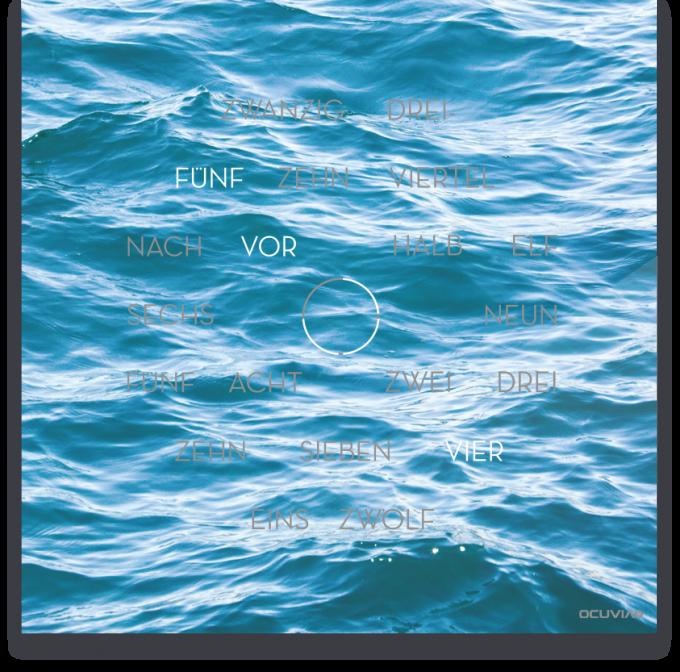 OCUVIA® · Wortuhr Anna · Mare Meer · Wortuhren-Manufaktur Berlin