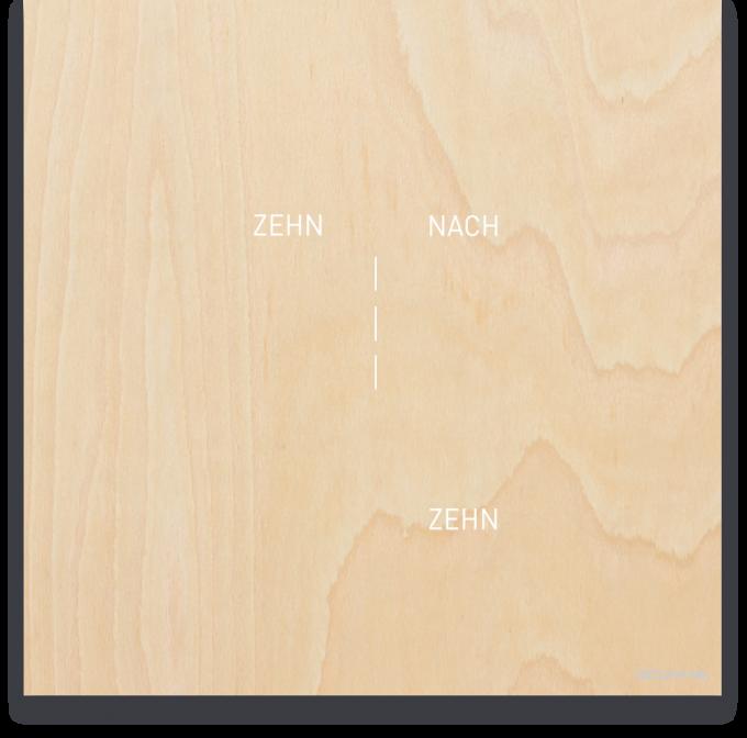 OCUVIA® · Wortuhr Lisa · Ahorn Holzoptik · Wortuhren-Manufaktur Berlin