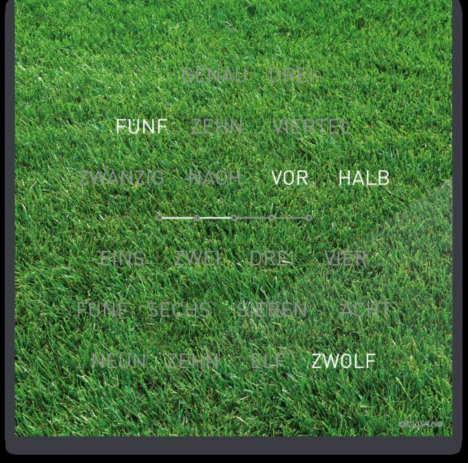 OCUVIA® · Wortuhr Lisa · Dalma Wiese · Wortuhren-Manufaktur Berlin
