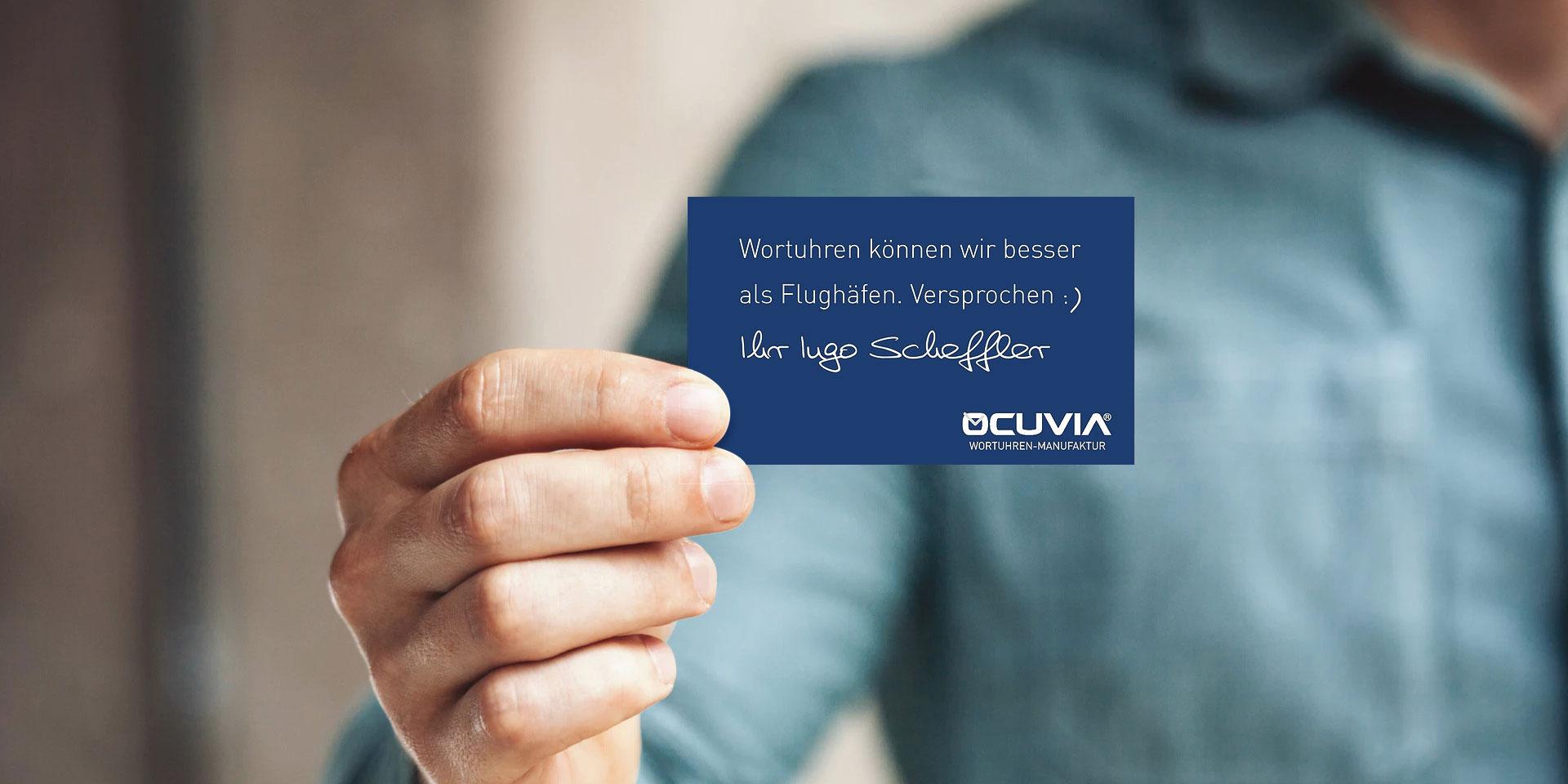 OCUVIA® · Wortuhr · Kontakt · Wortuhren-Manufaktur Berlin