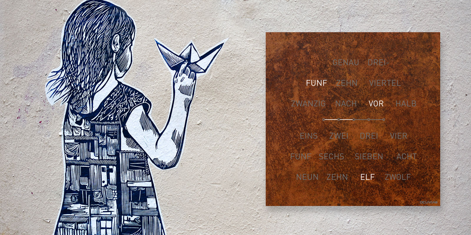 OCUVIA® · Wortuhr · Lisa · Wortuhren-Manufaktur Berlin