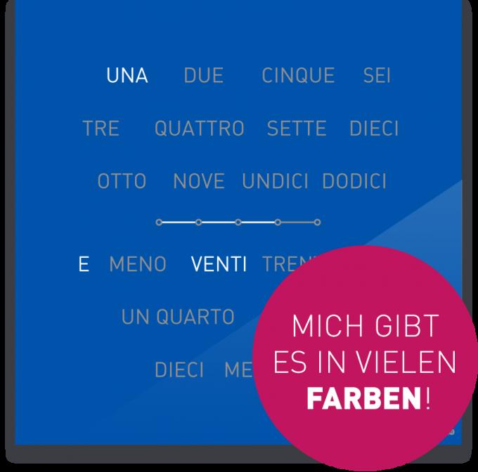 OCUVIA® · Wortuhr Lisa · Italienisch · Wortuhren-Manufaktur Berlin