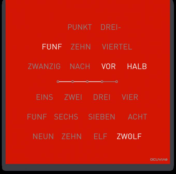 OCUVIA® · Wortuhr Lisa · Österreichisch · Wortuhren-Manufaktur Berlin