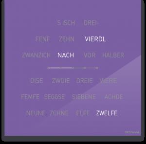 OCUVIA® · Wortuhr Lisa · Schwäbisch · Wortuhren-Manufaktur Berlin