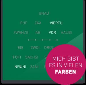 OCUVIA® · Wortuhr Lisa · Schwyzerdütsch · Wortuhren-Manufaktur Berlin