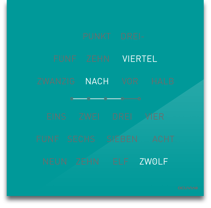 OCUVIA® · Wortuhr Lisa · Wortuhren-Manufaktur Berlin